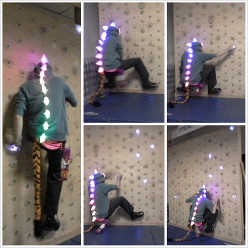 climbing the led wall from @mbientlab | by @mpinner
