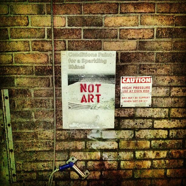 Not Art car wash #notart #graffiti #streetart  #somerville  #somervillema #carwash