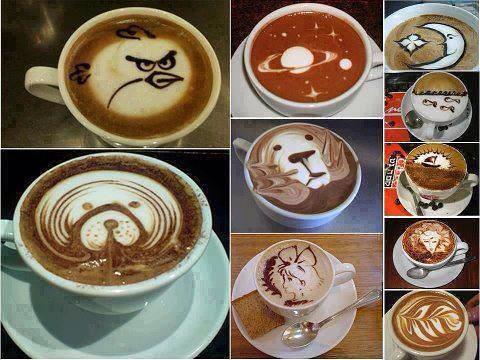 Cafés decorados | Milagros Mata Gil | Flickr