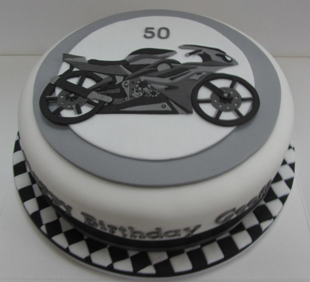 Cool Motorcycle Birthday Cake Justine Flickr Funny Birthday Cards Online Alyptdamsfinfo