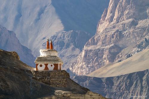 india mountain rural countryside desert outdoor stupa buddhist himalaya ladakh imagesofindia ommanipadmehum northindia jammukashmir littletibet incredibleindia indianimages lastshangrila temisgam irenebecker buddhistcommemorativemonument irenebeckereu moonlandonearth
