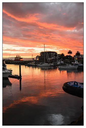 sunset newzealand reflection gisborne januaryholiday nikond7000
