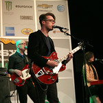 Fri, 14/03/2014 - 4:39pm - Jeremy Messersmith and band at the Public Radio Rocks Day Stage, March 14, 2014. Photo by Laura Fedele