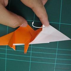วิธีการพับกระดาษเป็นรูปไดโนเสาร์ (Origami Dinosaur) 014
