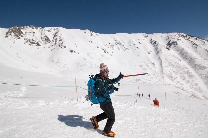 木曽駒ヶ岳 雪山登山開始