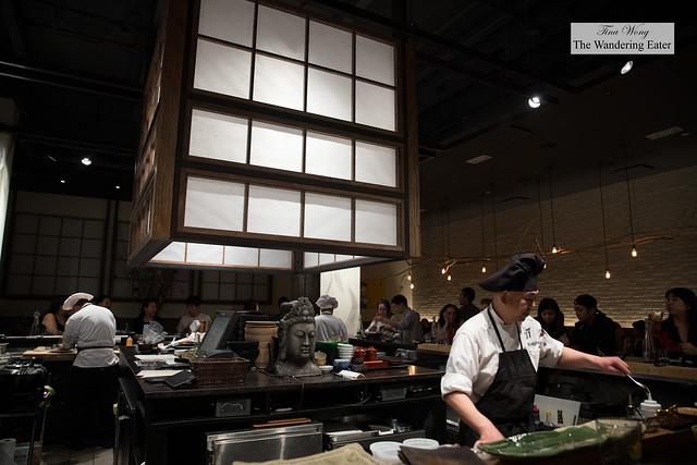 Interior with Executive Chef Koji Hagihara on the right