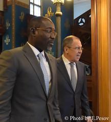 С.В.Лавров и И.Якуба   Sergey Lavrov & Ibrahim Yacouba
