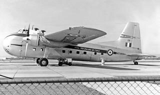 1964 RNZAF Bristol Freighter NZ5909 at Perth