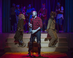 Tue, 2017-03-21 16:00 - Christine Mayland Perkins as Scarecrow, Jeremy Sonkin as Tin Woodsman, Michael E Smith as Cowardly Lion, with the ensemble as woodland creatures