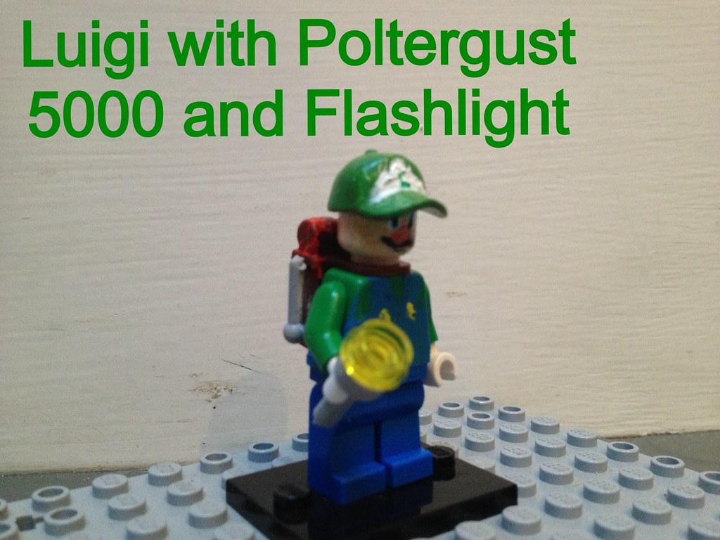 Custom Lego Luigi With Poltergust 5000 And Flashlight Flickr