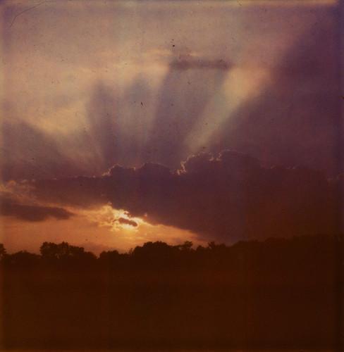 sunset sky film clouds polaroid sx70 evening birmingham alabama 600 instant epson magichour v500 iso600