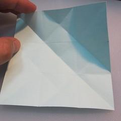 การพับกระดาษรูปดาวกระจาย (Star Origami – スターの折り紙) 006