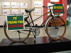 A famous bicycle, in the Ho-Chi Minh museum