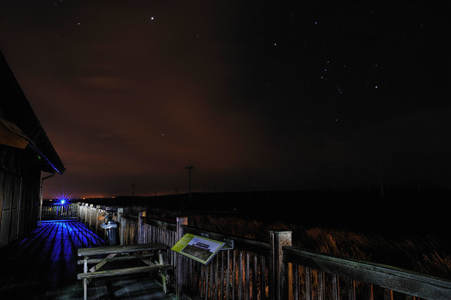 Whitelees Wind Farm At Night