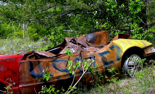 abandoned car color laclahache old rust colora