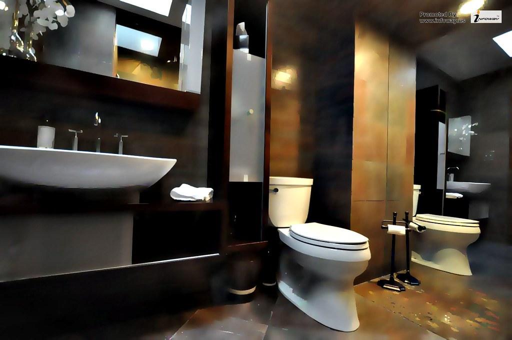 Pretty small bathroom design