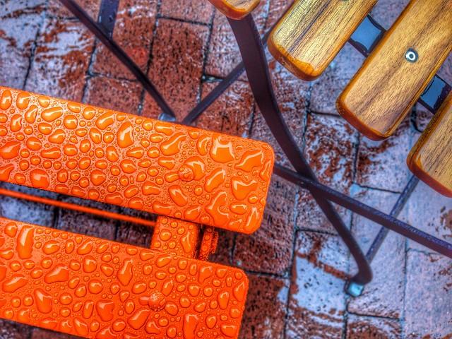 #rainy #days & #orange #chair