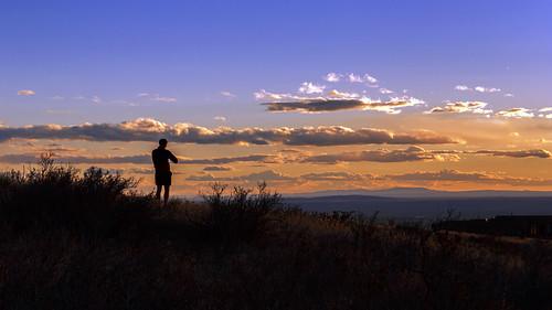 sunset newmexico silhouette albuquerque nm runner