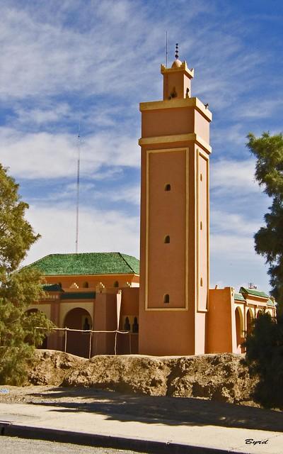 Mosque with square minaret
