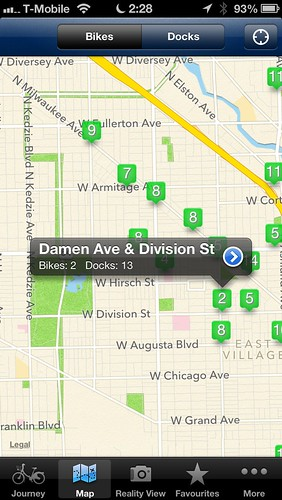 City Bikes: Divvy bike sharing iOS app review   by Steven Vance