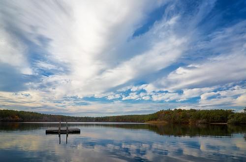 pond skies massachusetts plymouth raft campcachalot swimarea fivemilepond cachalotscoutreservation tokinaatx116prodxaf1116mmf28