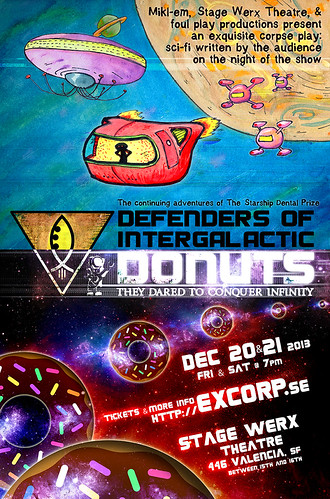 Exquisite Corpse Theatre: Defenders of Intergalactic Donuts | by mikl-em
