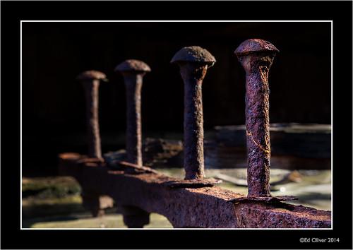 tanfield tanfieldrailway tyneandwear canonef24105mmf4lis rust textures lightandshadows nutsandbolts lowkey industrial derelict abandoned decay 2014