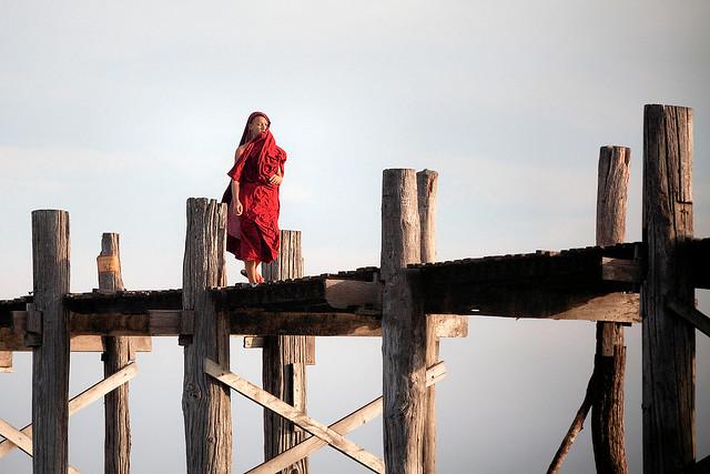 Monk on the U-Bein bridge