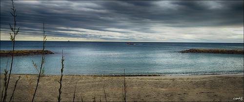 mar playa cielo nubes rocas ametllademar sonya77