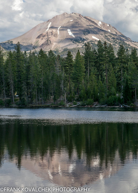 Reflection on Reflection Lake in Lassen Volcanic National Park