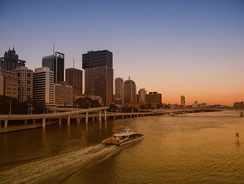 city winter sunset skyline river landscape cityscape brisbane brisvegas brisbaneriver rivercity