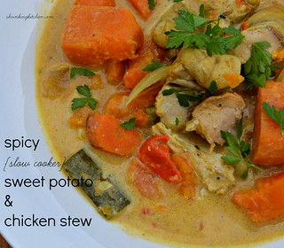 spicy sweet potato & chicken stew