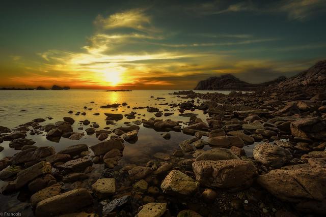 sunset pointe de Primel