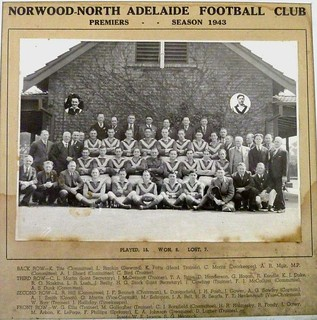 Norwood-North Adelaide Football Club - Premiers - Season 1943