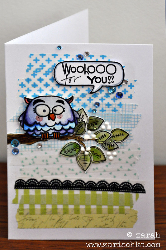 paper smooches owl-card