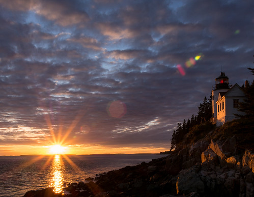 Sunset over Bass Harbor | by Peter E. Lee