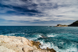 the sky, the water and the rocks | by micurs