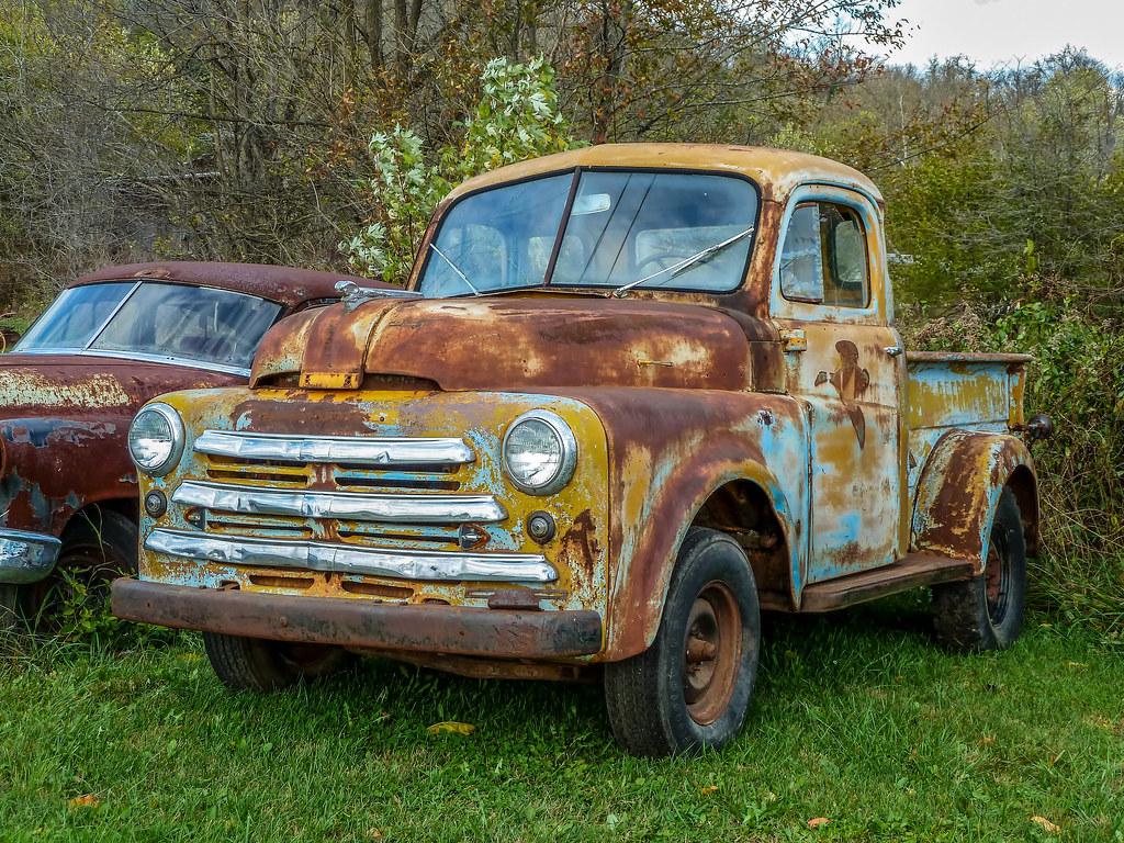 Old Dodge Trucks >> Old 1950 Rusty B Model Dodge Five Window Pickup Truck