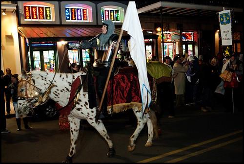 Krewe de Jeanne D'Arc Parade on 12th Night the start of Mardi Gras season, 2014. by Ryan Hodgson-Rigsbee www.rhrphoto.com