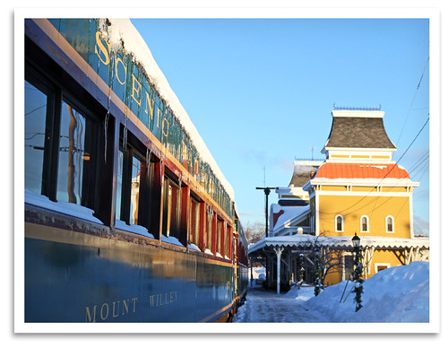 train nh depot coaches excursion northconway 1874 conwayscenicrailroad steaminthesnow massachusettsbayrailroadenthusiasts