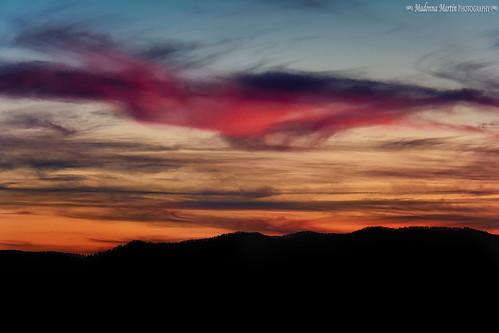sunset mountains clouds scenic northcarolina