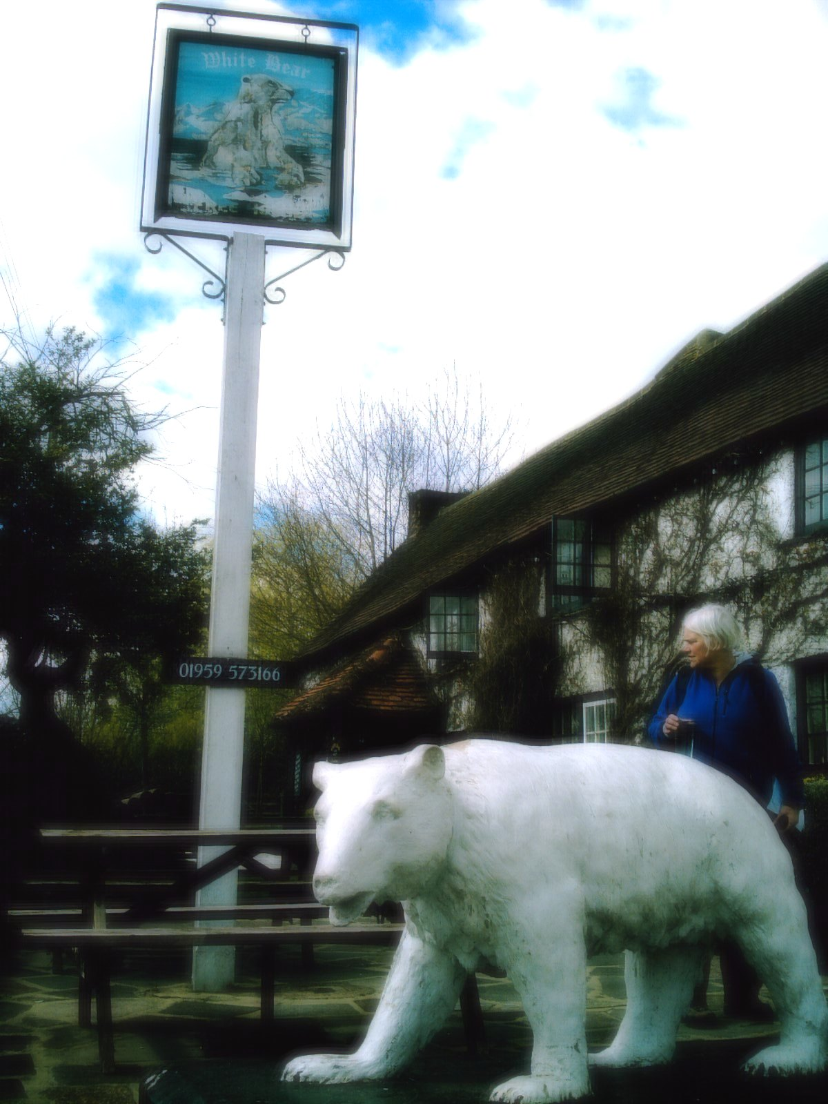 Upper Warlingham to Hayes. The White Bear, Fickleshole Where's my beer? Hofmeister if you don't mind! Camera: Vivitar 5199 5mp