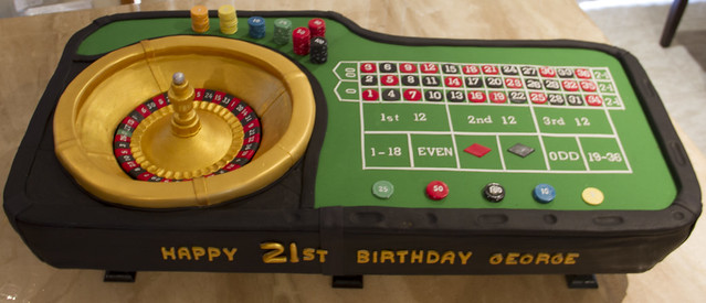 Roulette Wheel Birthday cake