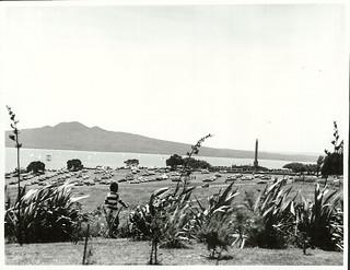 Bastion Point from Orakei Marae, on Regatta Day, January 1977