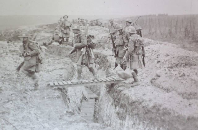 Gordon Highlanders in the trenches between 1914/18.