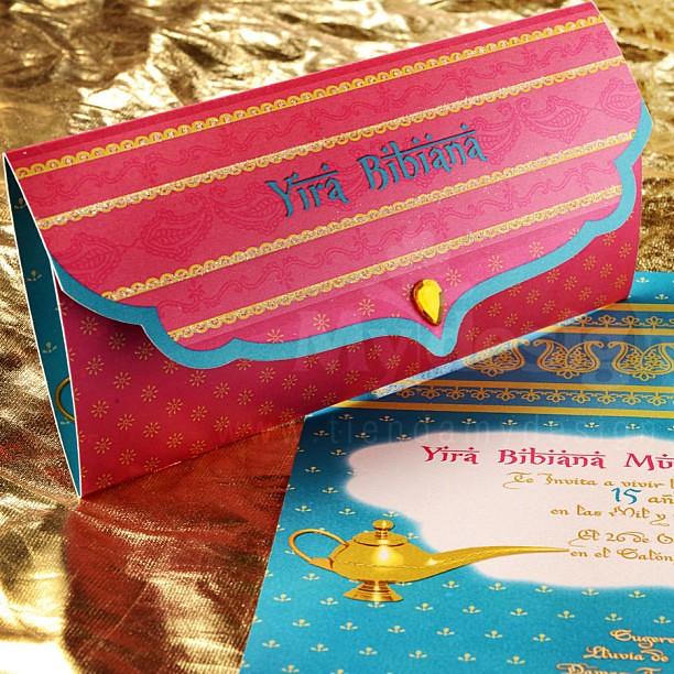 Invitaciones A 15 Años Tema árabe Mydesign Invitacione