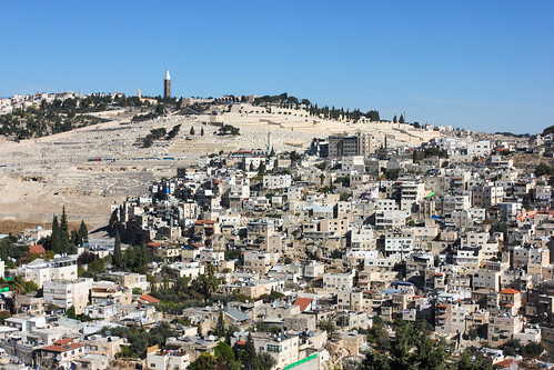 View to the Mount of Olives in Jerusalem | by askii