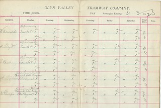 Glyn Valley Tramway pay sheet 1923 | by ian.dinmore