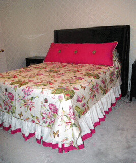Coverlet, Bedskirt and Pillow