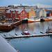 Colorful Norwegian Harbor in Tromso by ` Toshio '